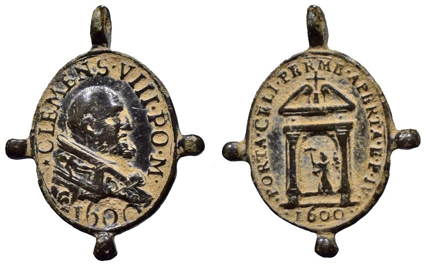 Clemente VIII / Año Jubilar Romano 1600 (R.M. SXVII-O417) (Pe Clemente VIII 2) 15nucmd