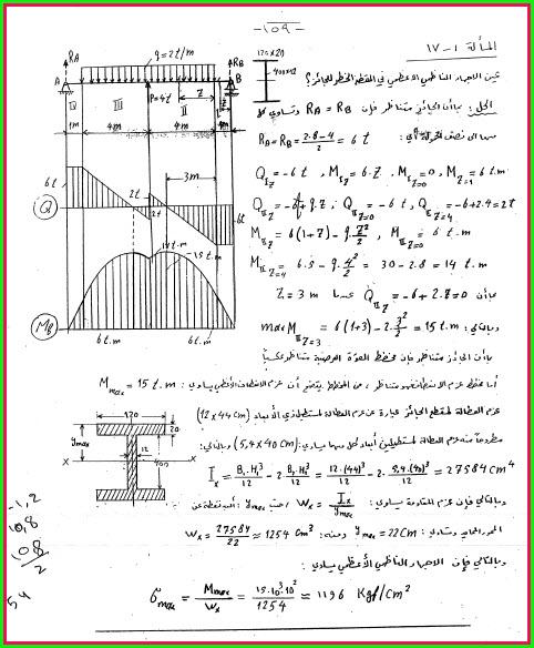 مسائل محلولة في مقاومة المواد 1z2j614