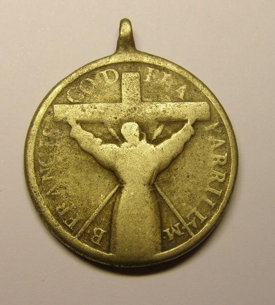 Medalla del Beato Francisco de San Miguel de la Parrilla y San Pedro Regalado. 23uam41