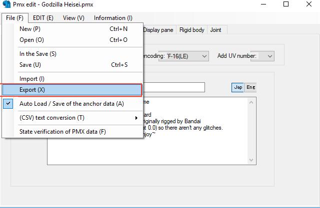 Conversión de archivos 3d MMD con el PMX Editor para The Movies 23vg581