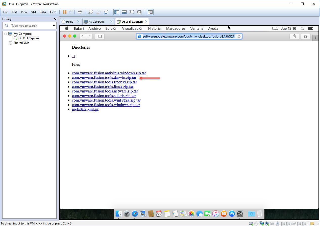 [TUTORIAL] VMWARE: INSTALANDO OS X EL CAPITÁN EN OS X Y WINDOWS... A LA BILBAÍNA 28iatds