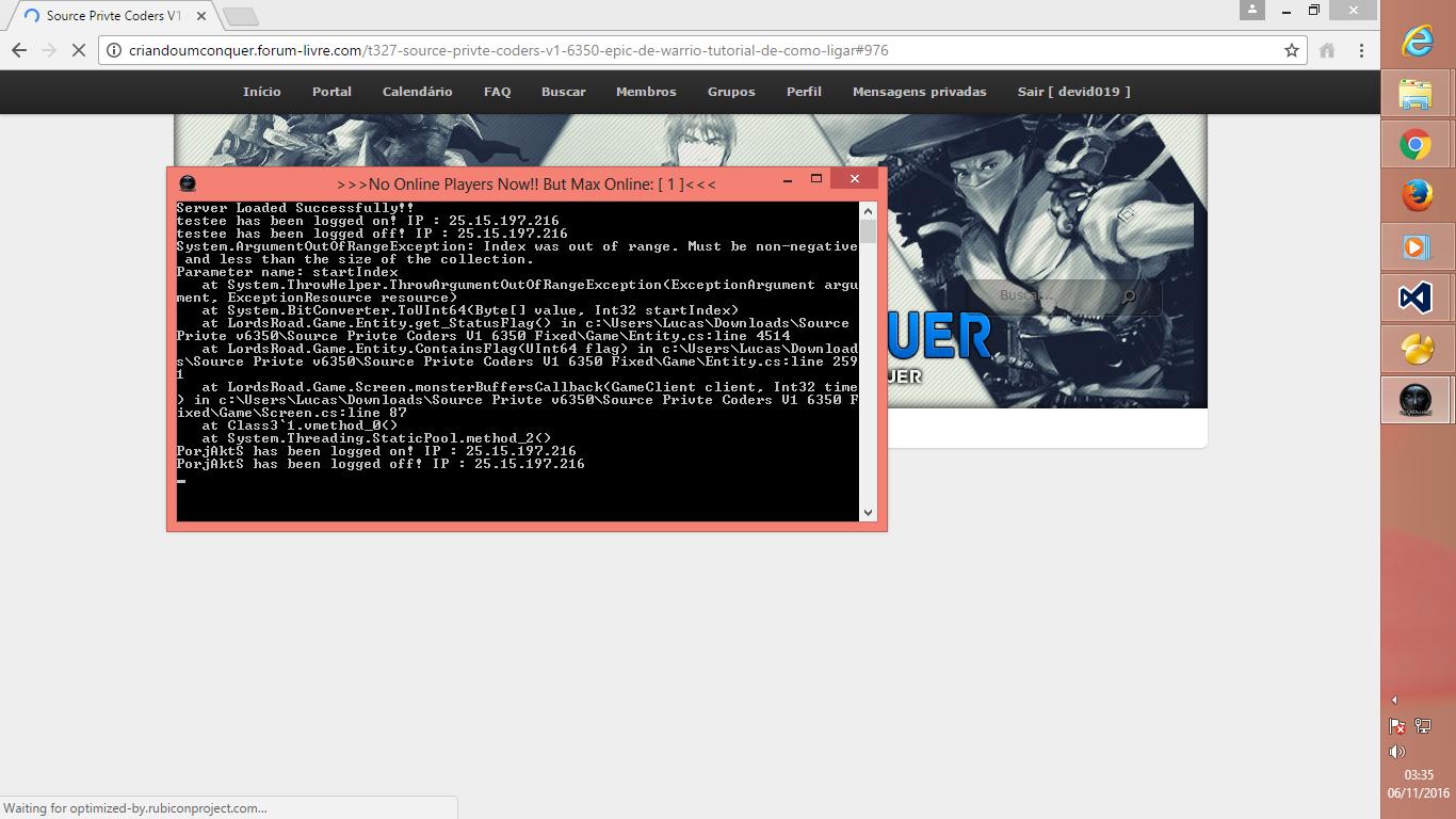 Source Privte Coders V1 6350 (Epic de Warrio) + Tutorial de como Ligar 28qpeo