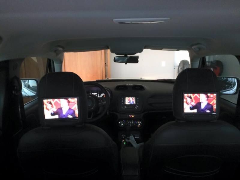 Interface de vídeo com desbloqueio, Disqueteira DVD Alpine e monitores Alpine encosto cabeça com fones sem fio. 29c12l2