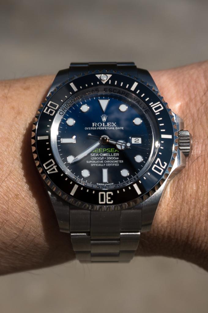 Présentation de la Rolex 116660 SDDS D-Blue James Cameron 29kt17o