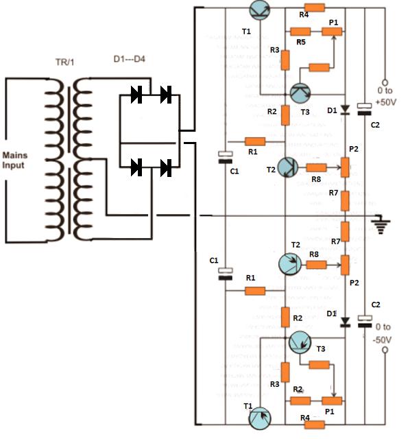 Dupla fonte ajustável para bancada 0 à 50V e 0 à 10A 2ezih6s