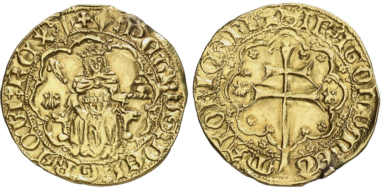 """Rals d'or de Pere I de Mallorca (variantes del tipo """"venera"""") 2ze02sm"""