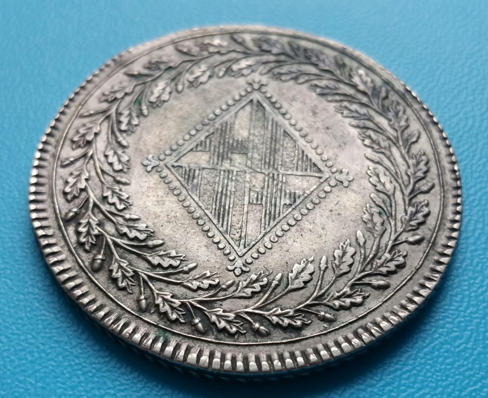 5 pesetas 1812. Barcelona. Ocupación francesa 30cvn8h