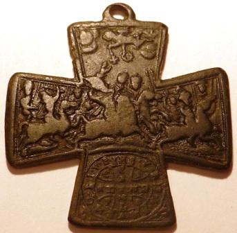 Cruz de San Ulrico con cuatro obispos y Santa Digna. [ Pec032 / S-XVIII]  30jqt1g