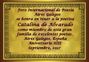 Premios de:Catalina de Alvarado 30vna4p