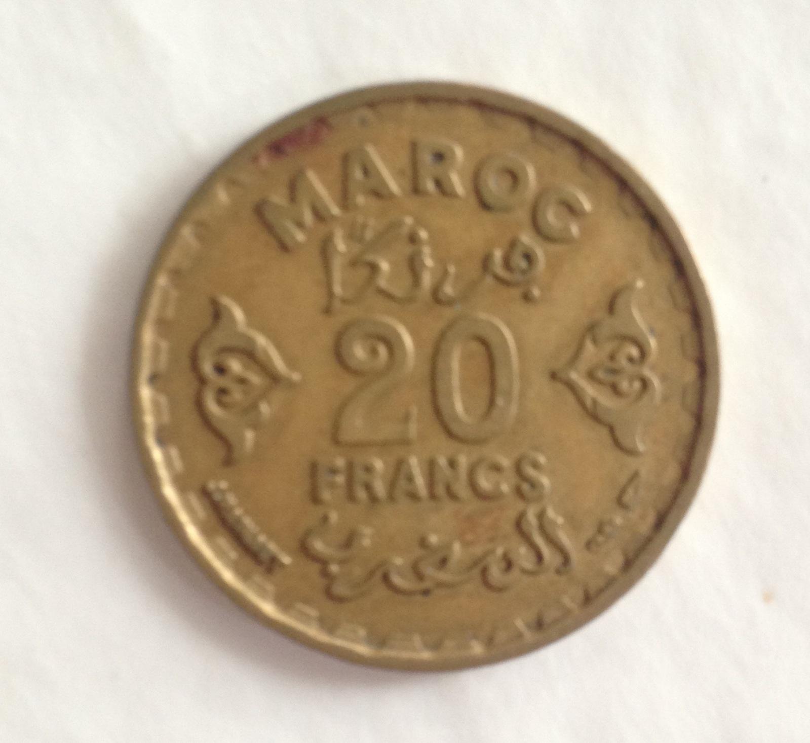 20 francs Maroc (1371) 351s654