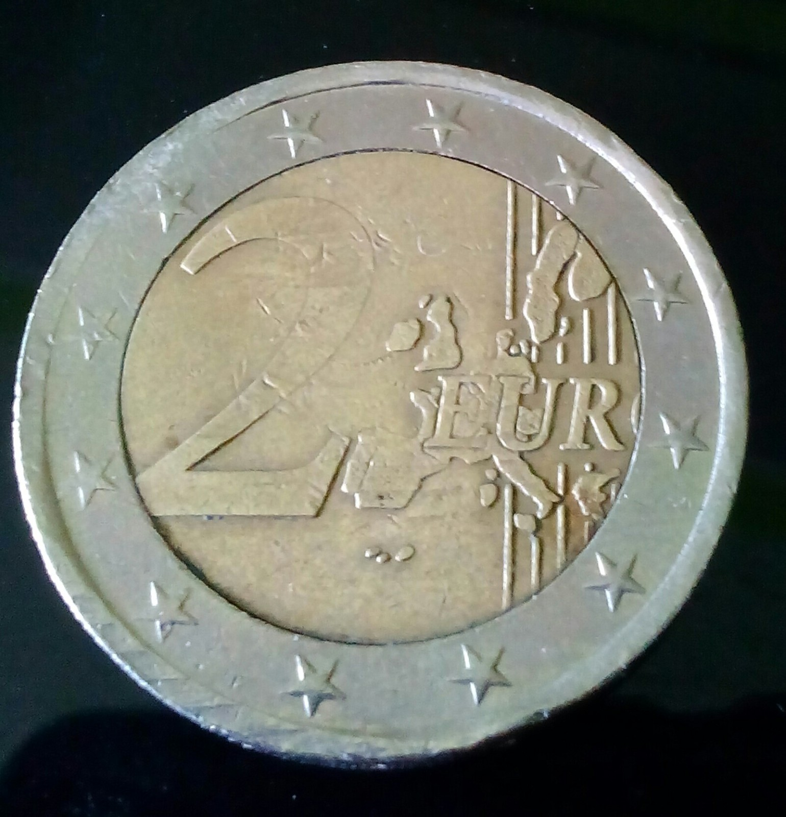 Moneda de 2 euros Irlanda con defectos 4g2has