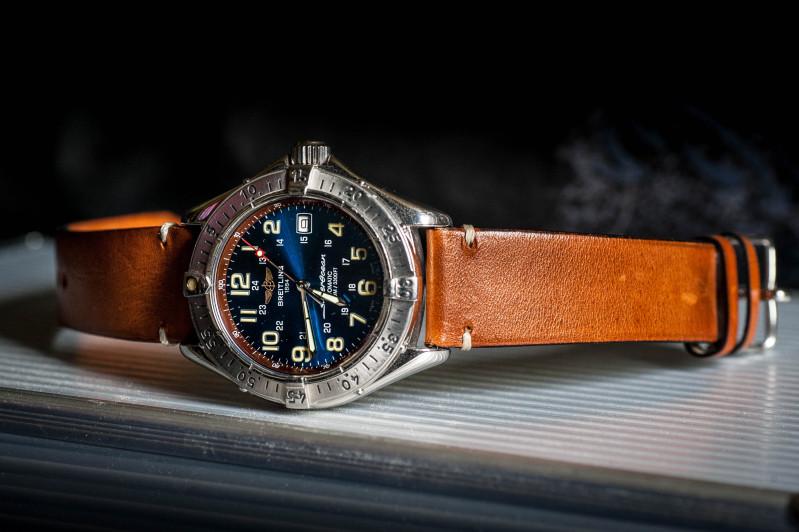 Cadran bleu -> quel bracelet cuir ? 5l9jsw