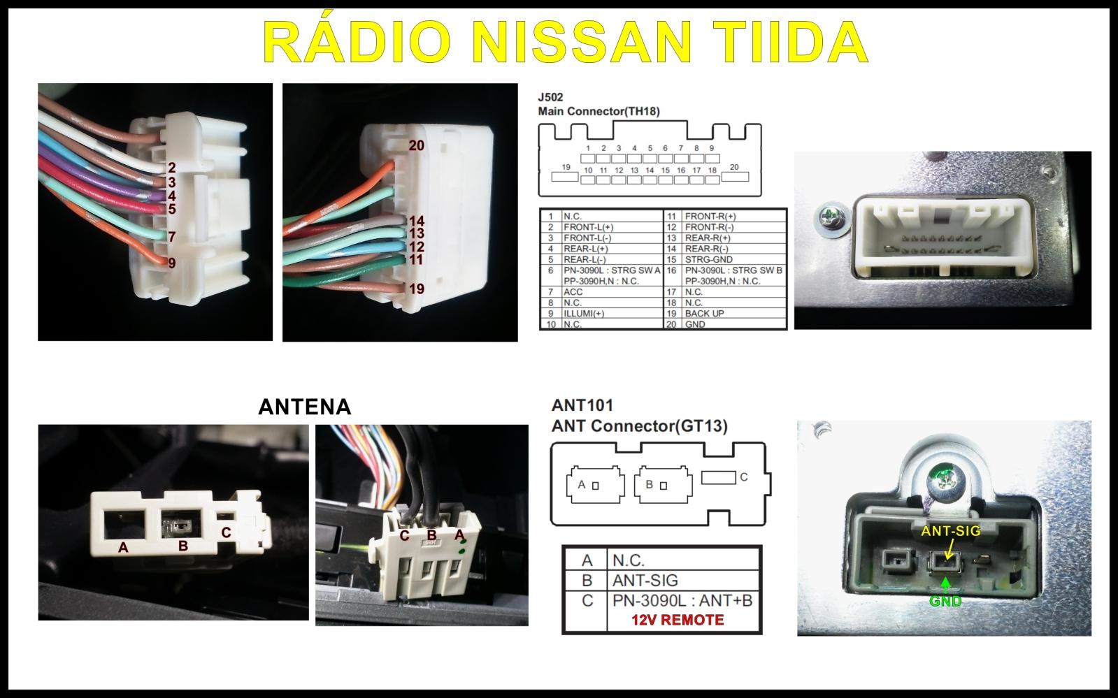 Esquema de ligação do rádio original 5lncqp