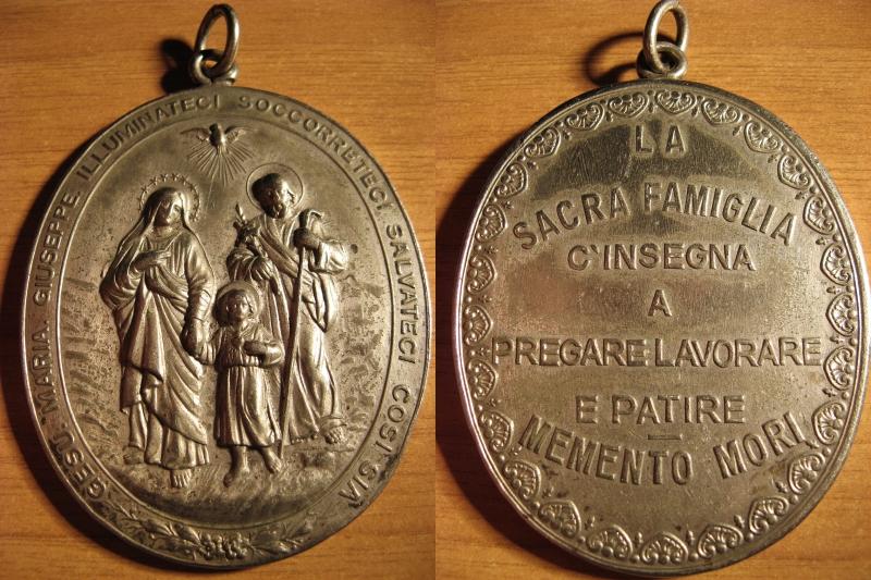 Sagrada Familia / Inscripción, medalla de gran módulo (R.M. SXIX-O73) 8zo6ch
