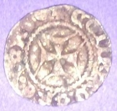 Italia: (Genova). Denaro de Tomaso di Campofregoso (1436-1442)  9g94q0