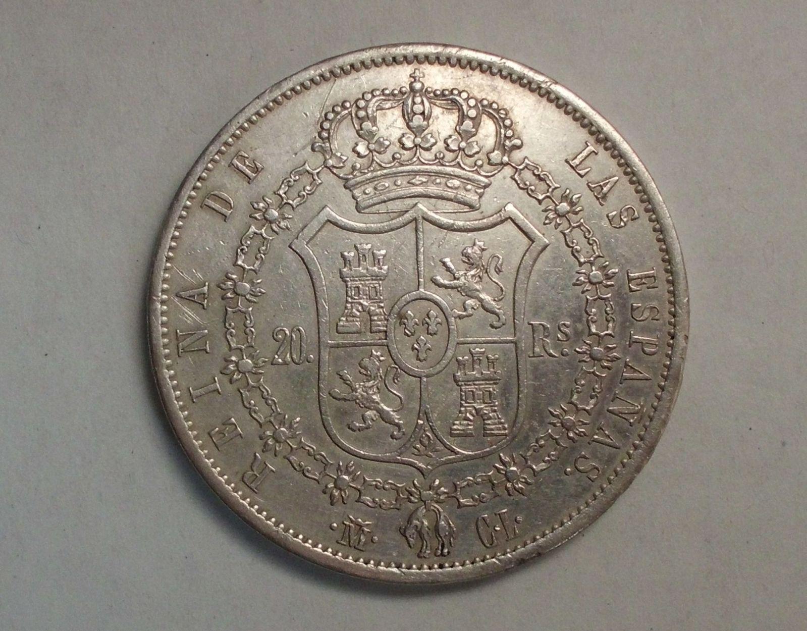 20 reales 1850 isabel II madrid 9sutxz