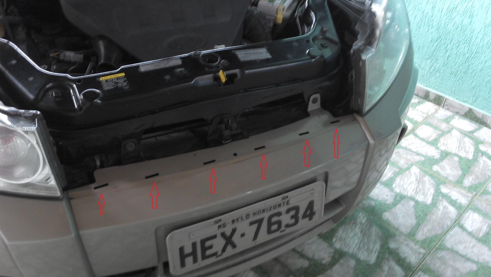 Retirar a grade dianteira do Ecosport 2012 modelo antigo 9zu61i