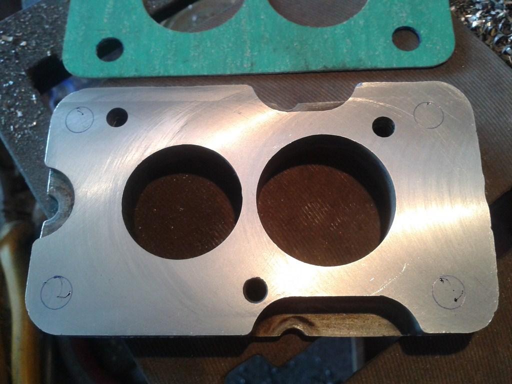 TUTORIAL de Instalação do Carburador 3E no Coletor do H34 com flange! Ak8jn5