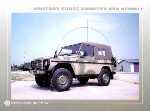 (W462): A Classe G montada em CKD para o exército grego Dykvps
