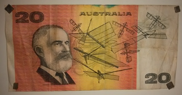 billete de 20 dolares australiano Egybli