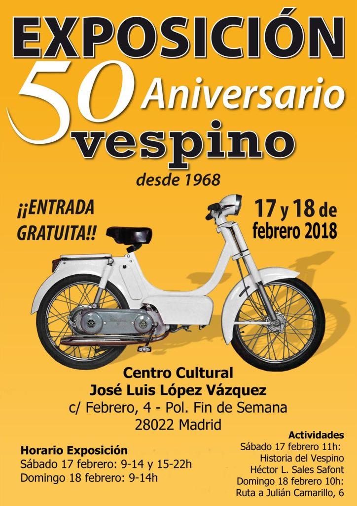 Exposición 50º Aniversario del Vespino, 17 Feb Jra2qg