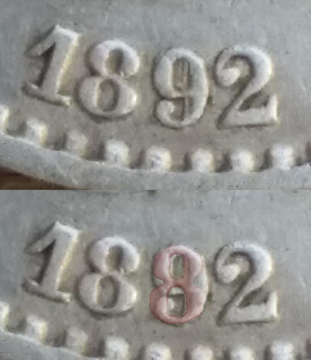 50 céntimos Alfonso XIII 1892, sobre 1889 Mjoae1