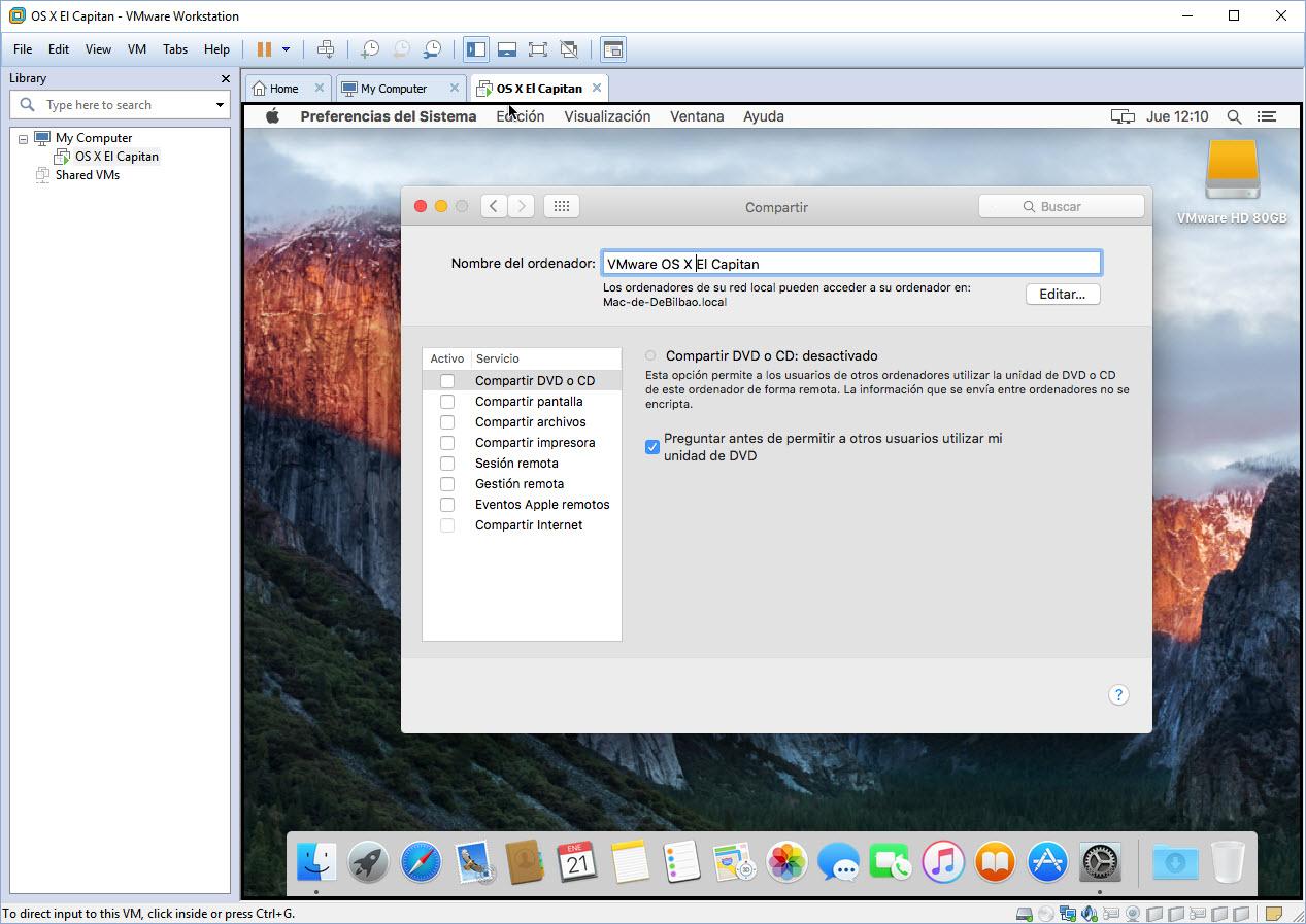 [TUTORIAL] VMWARE: INSTALANDO OS X EL CAPITÁN EN OS X Y WINDOWS... A LA BILBAÍNA Nvd11g