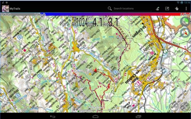 Топографски карти и приложения за Android Nya49e