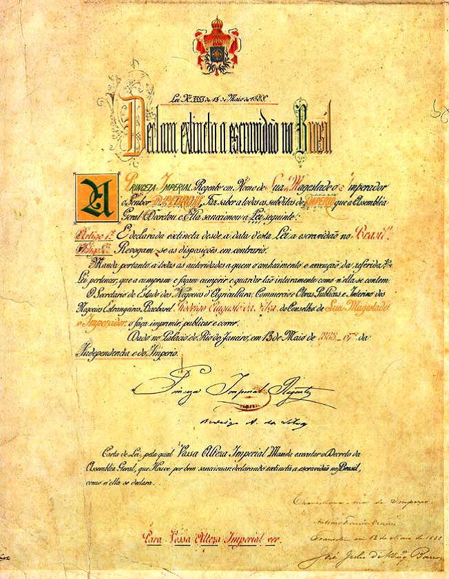 Ley Áurea: abolición de la esclavitud en Brasil Oa5boz