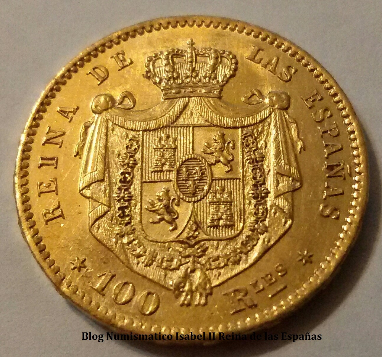 100 Reales 1863 Isabel II - Madrid - Ouv42e