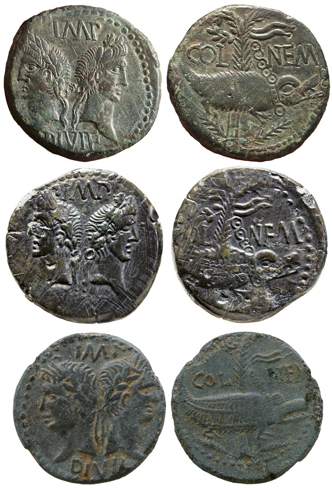 Dupondius de Nîmes Qpl63t