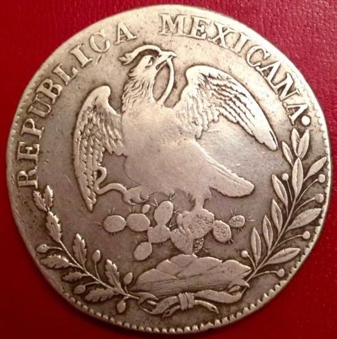 8 reales mejicanos  1832 . Resello Isabel II Snh3lh