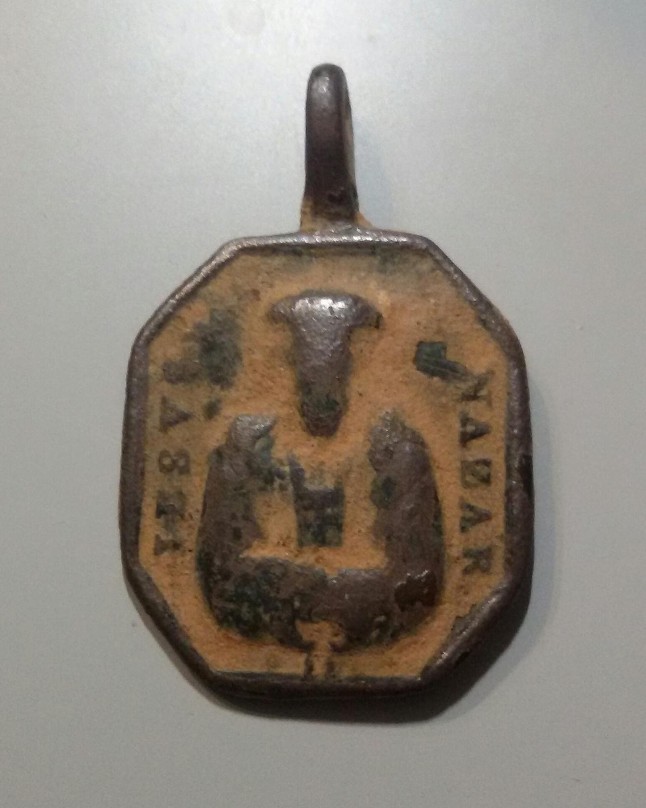 Medalla Jesucristo Cautivo / San Juan de Mata  S. XVIII Vzady8