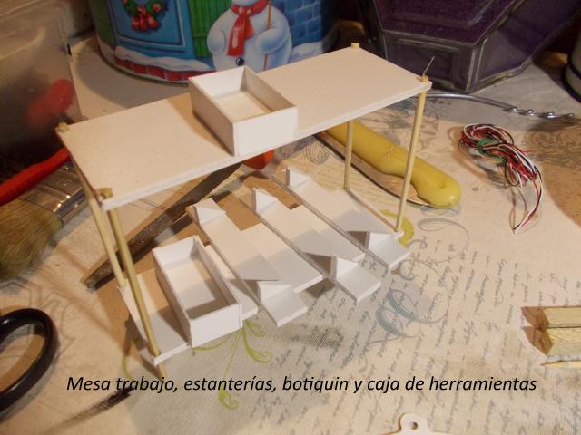 Diorama: garaje-taller crawler escala 1/10 105tf6c