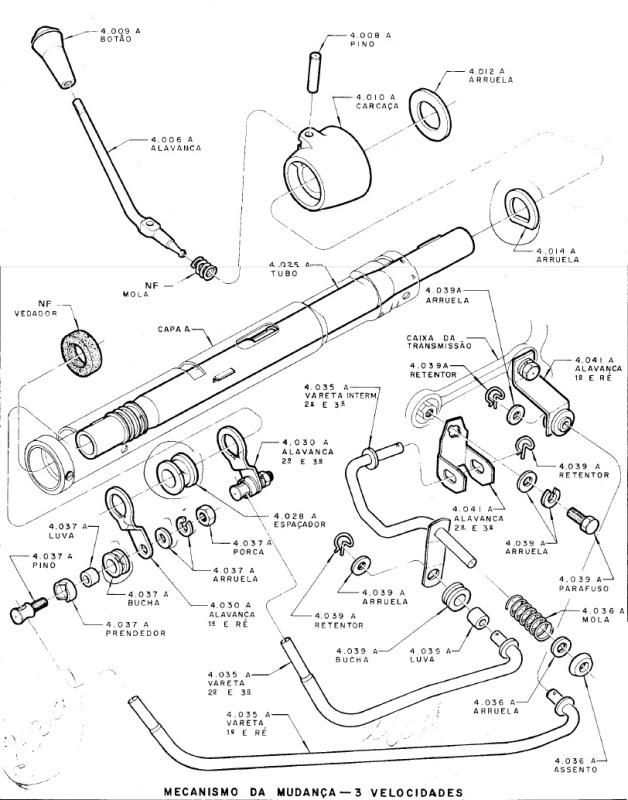 Motor 6cc com 3 marchas na Coluna 10qw5zo