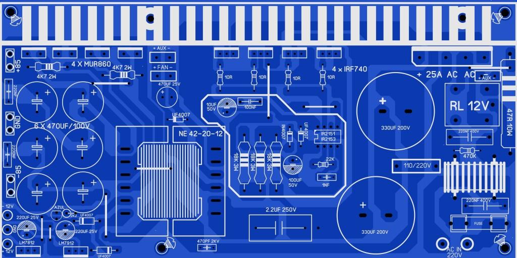 FONTE FUNCIONANDO 110 OU 220V COM 2 MODELOS IR2151 2153 10s8ak8