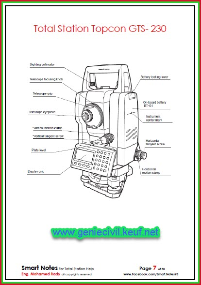 Total Station Topcon GTS-230 Book 11gm0ox