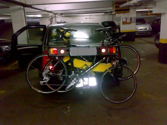 Rack de bicicletas de porta malas 14tmovt