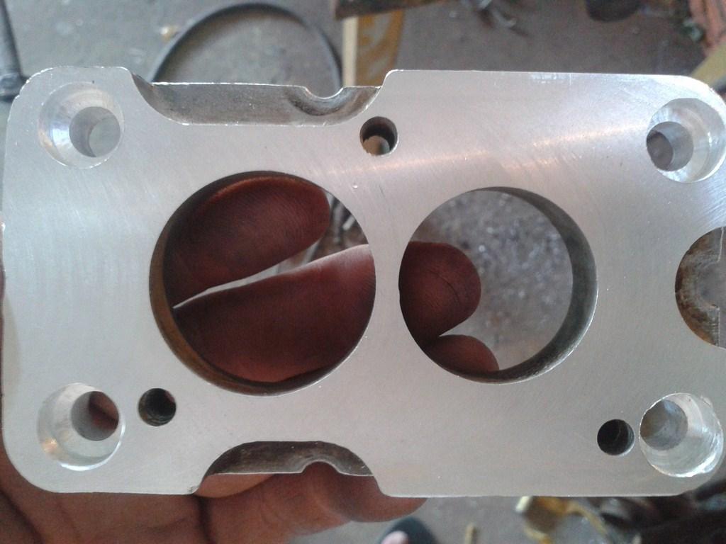 TUTORIAL de Instalação do Carburador 3E no Coletor do H34 com flange! 15x3i9h