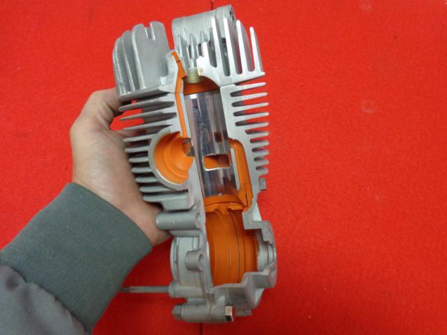 Motor seccionado para exposición 166dpuw