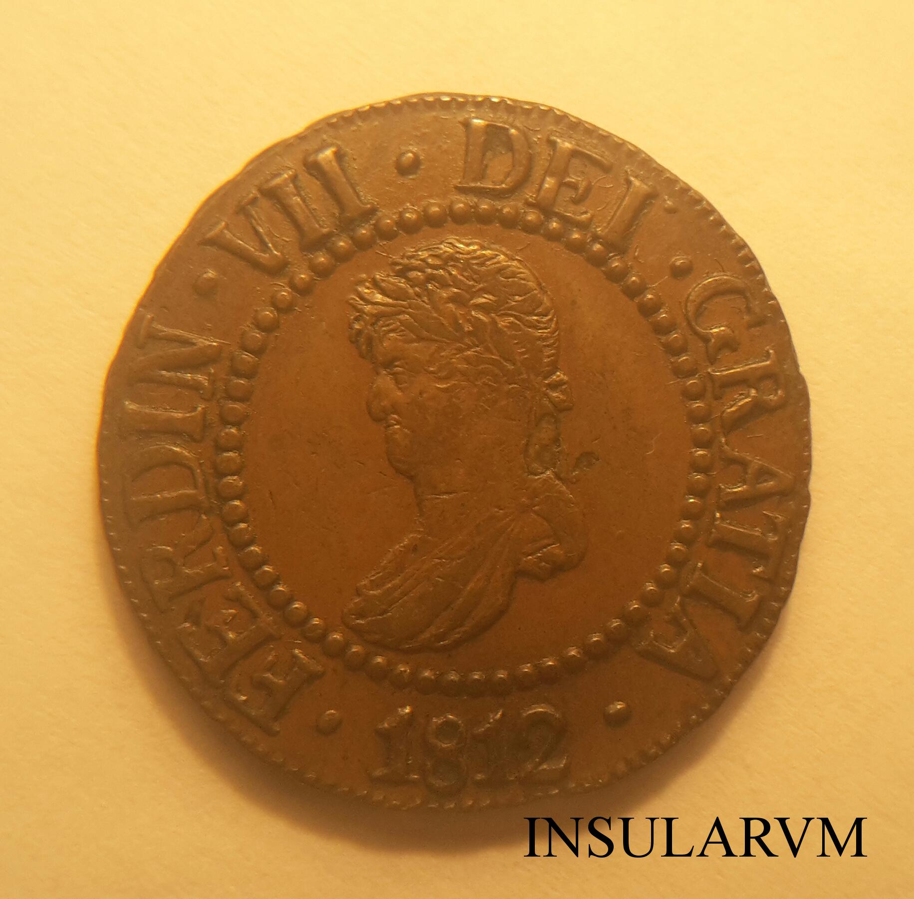 12 Dineros 1812. Fernando VII. Mallorca.  EBC/AU Ex Ramón Llull 1j9pi8
