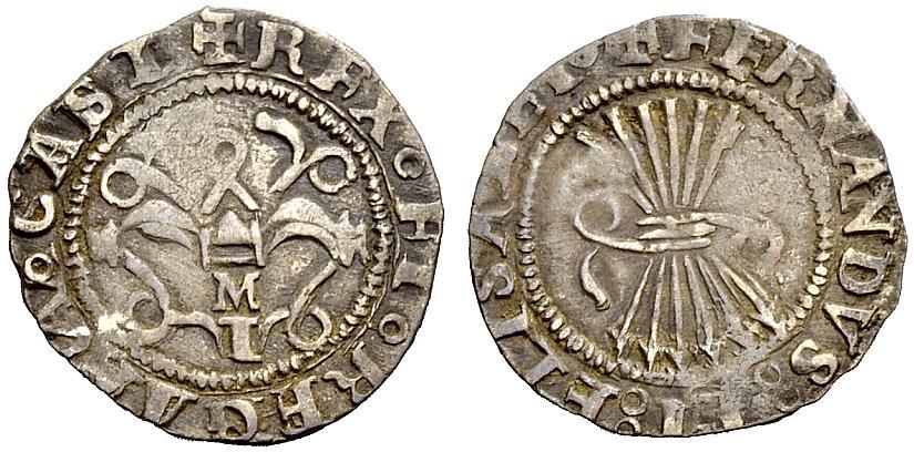 1/2 Real. Reyes Catolicos.Toledo. A/ M sobre T. R/ Nombre de los monarcas 1tjuwh