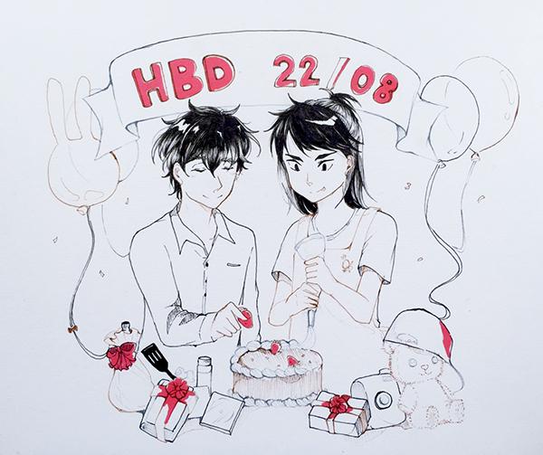 "HAPPY BIRTHDAY TO ""K.Pair"" (Jinn) & ""K.Bas"" (Isara) 21mrtlj"