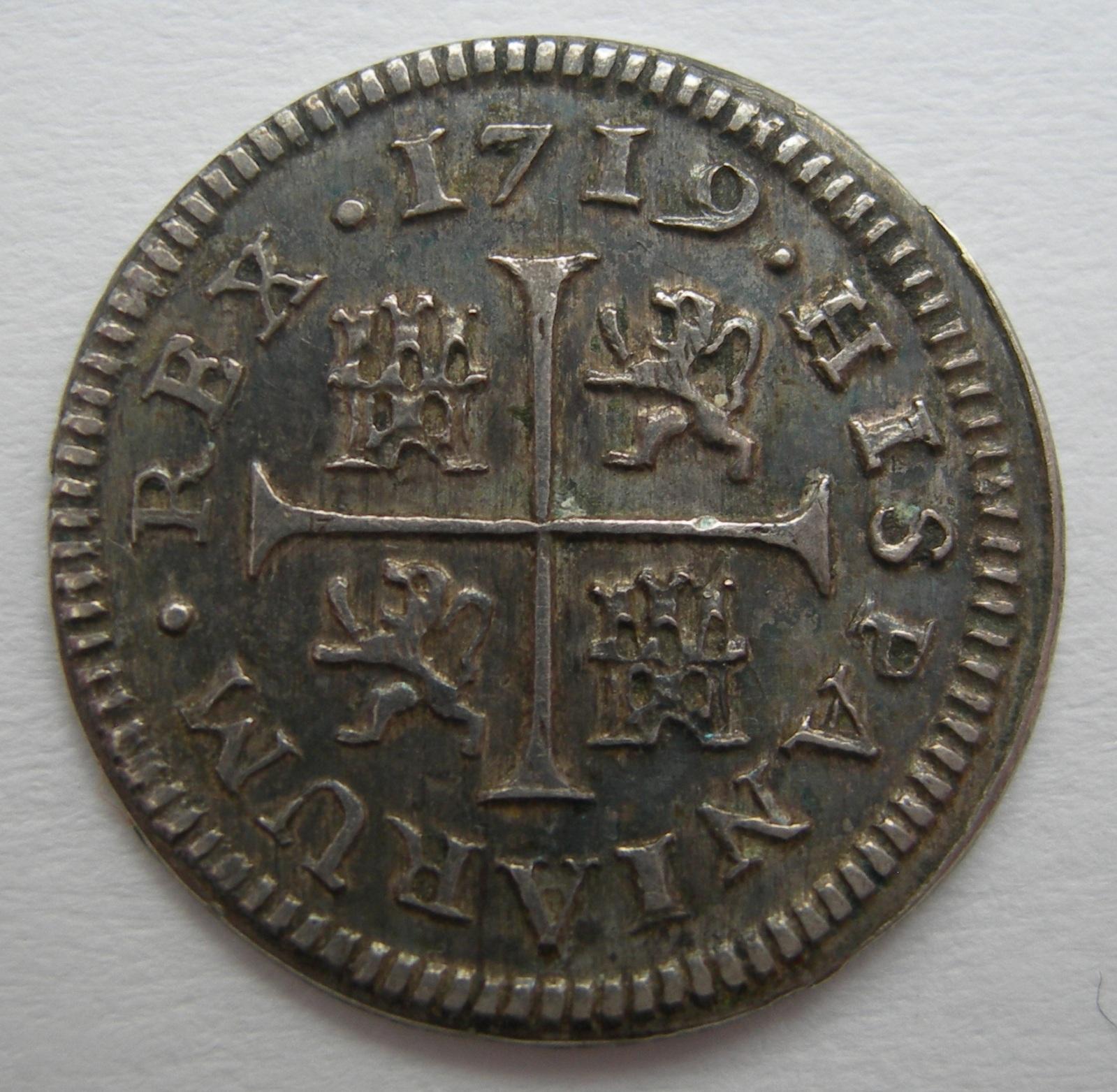 1/2 real 1719. Felipe V. Cuenca 23vay6h
