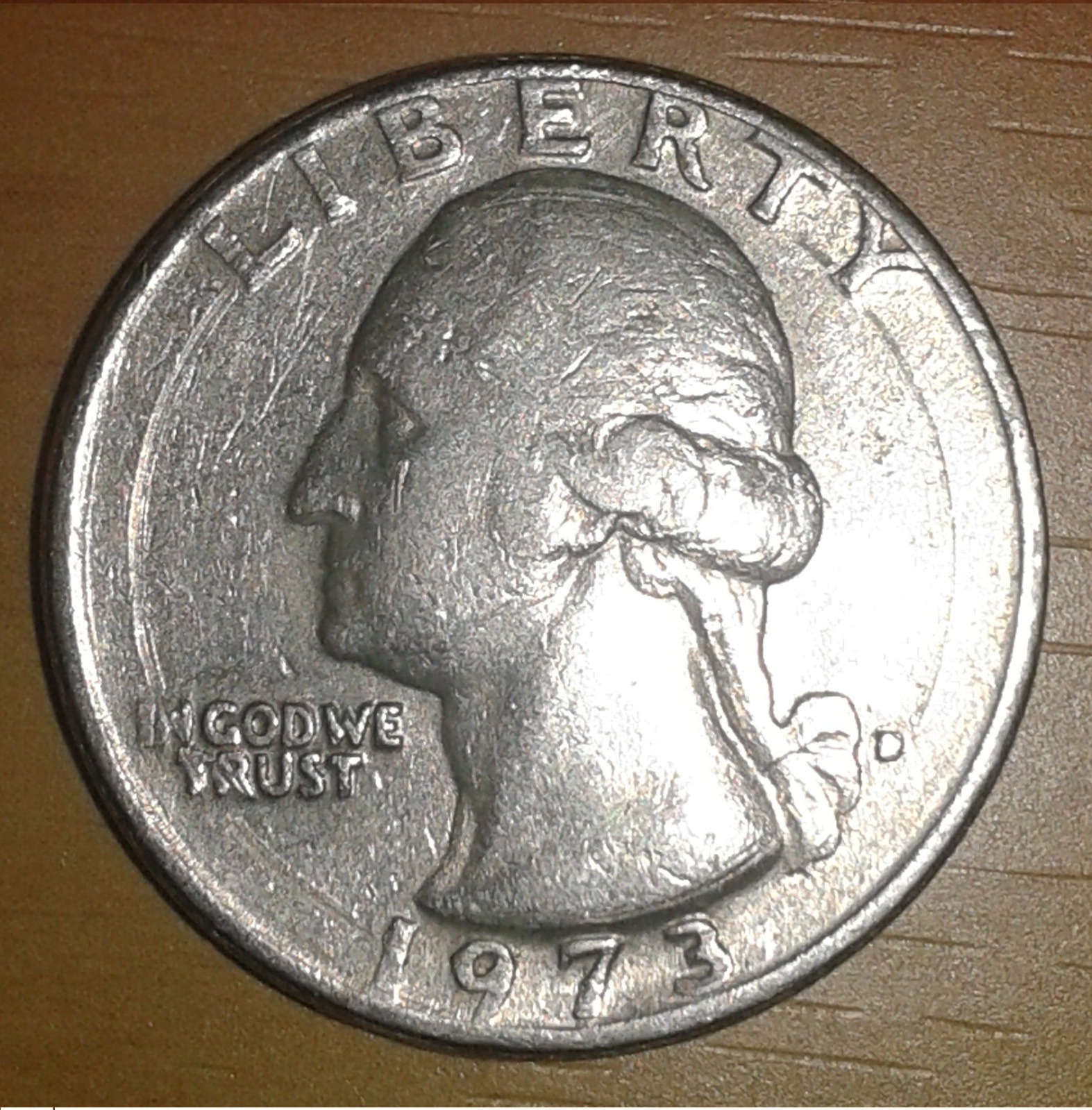 Moneda de un cuarto de dólar 24v8qwg