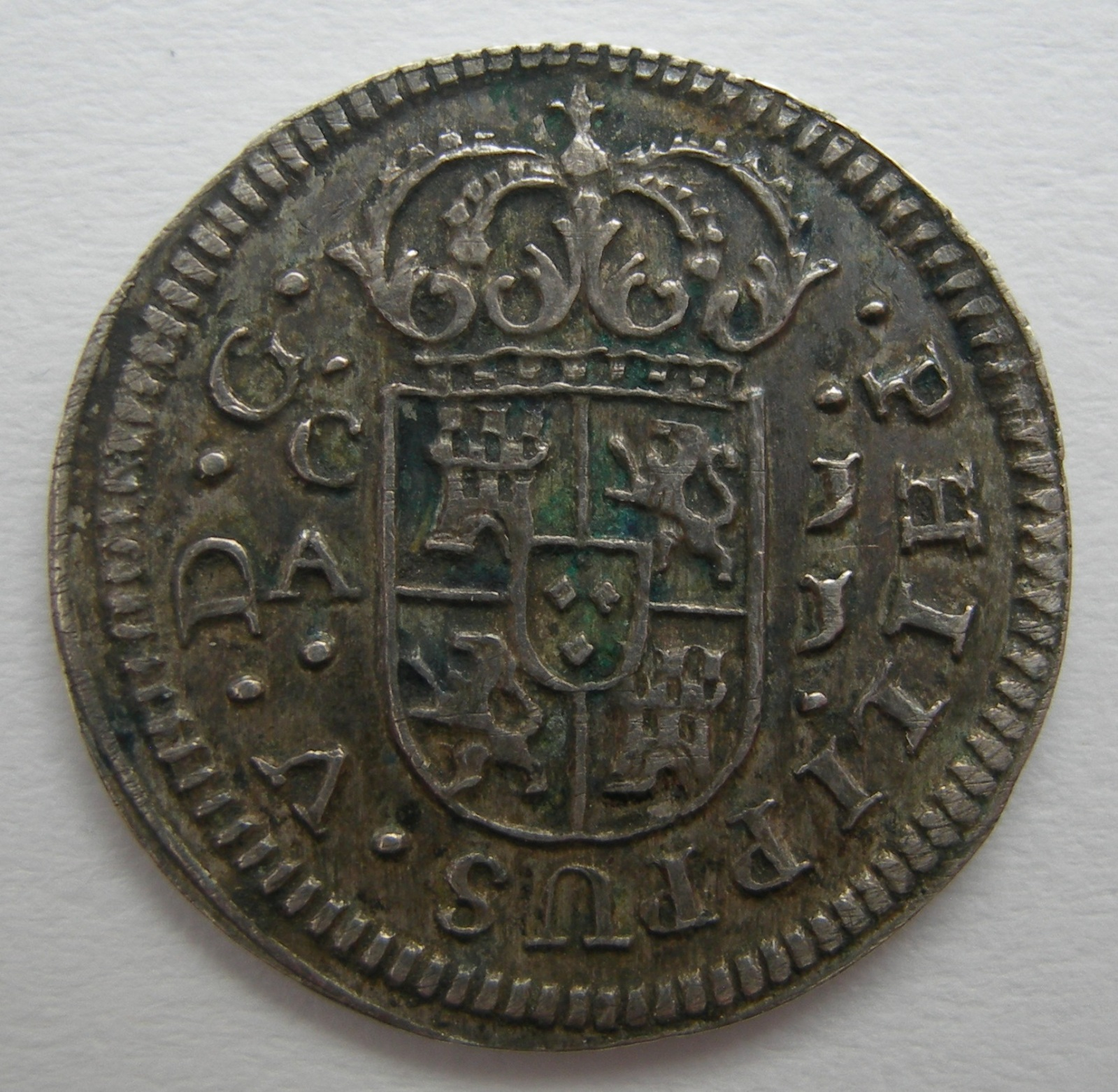 1/2 real 1719. Felipe V. Cuenca 24zj1qa