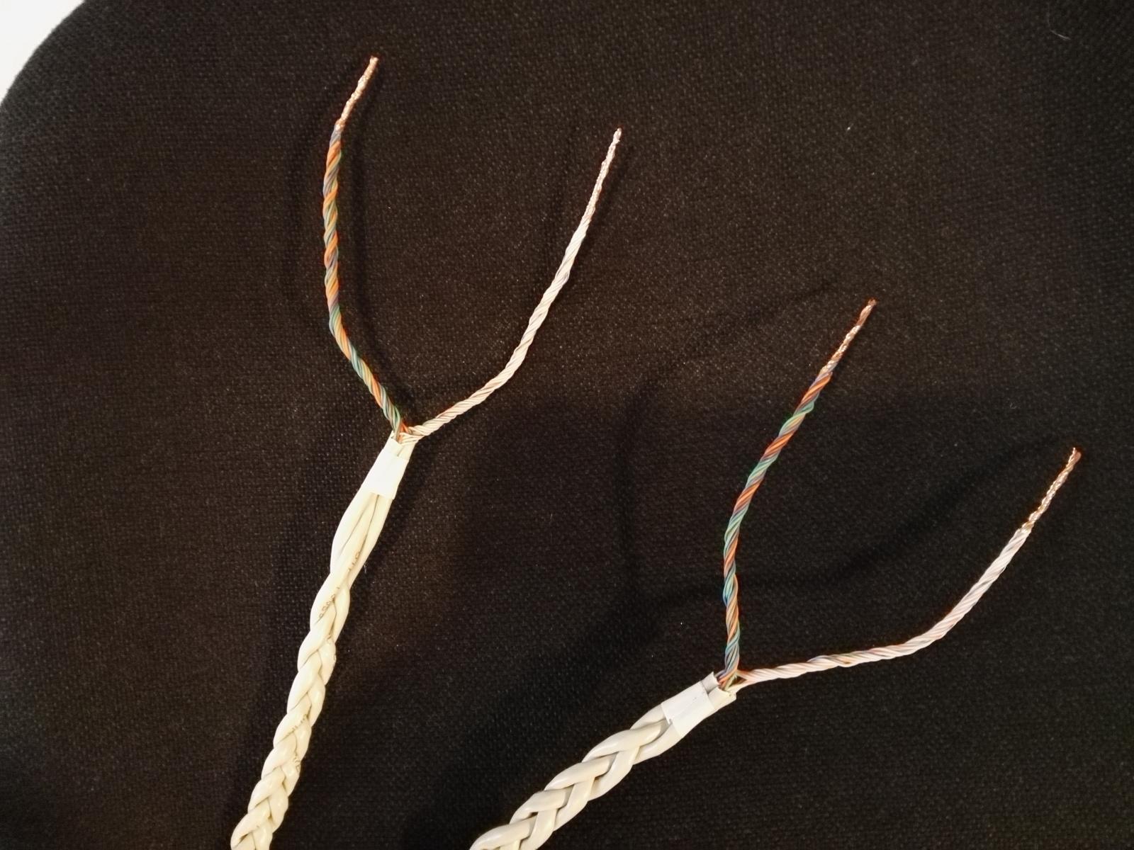 I miei primi cavi di potenza con cavo Cat5 28031ao