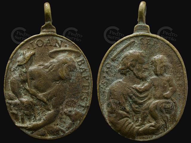 PS - Medalla 1  San Juan Bautista / San José s.XVII-XVIII 2d7v8lc