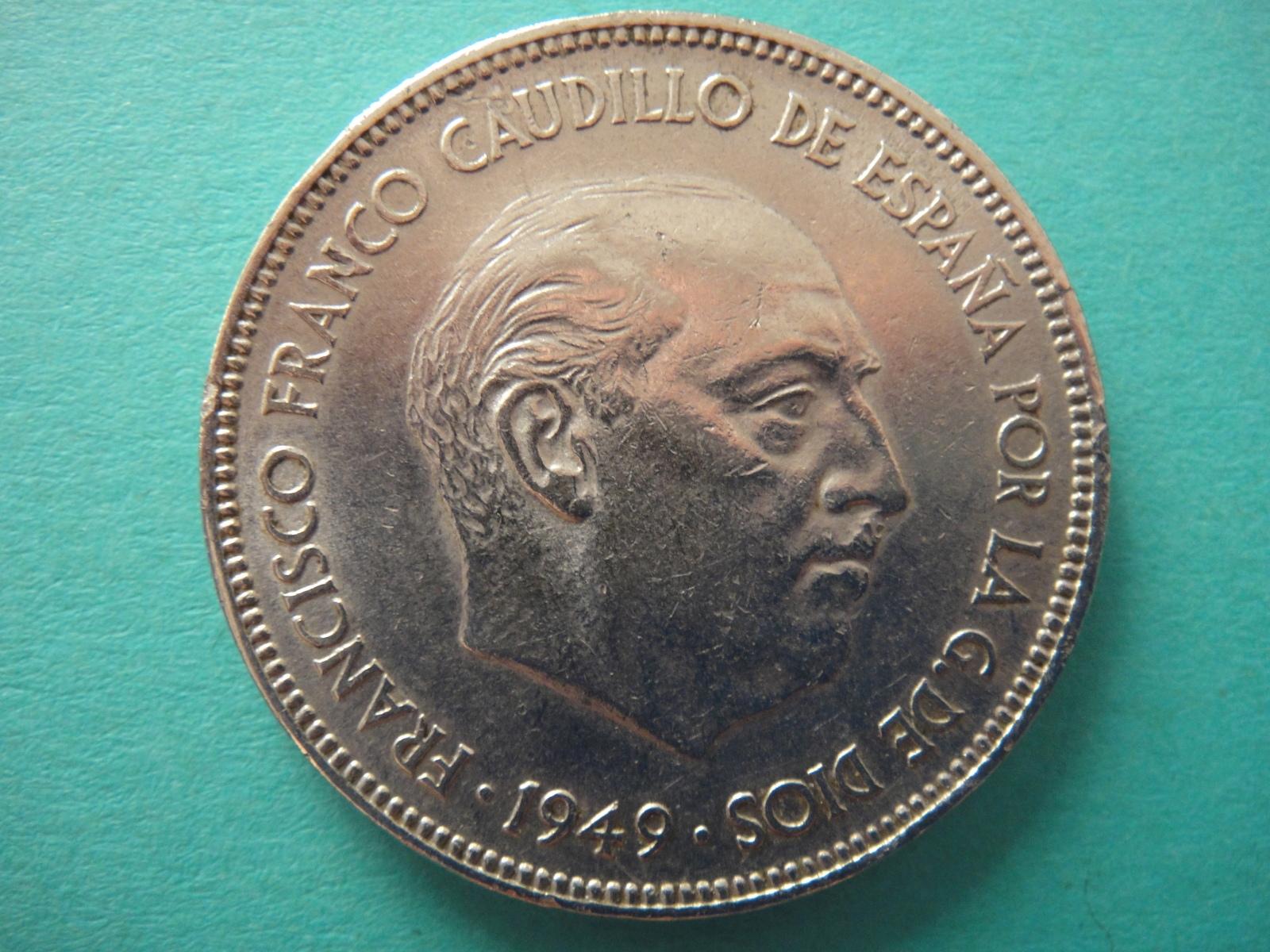 5 pesetas 1949 (*19-50). Estado Español 2d9b2ug