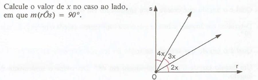 Calcule o valor de x no caso ao lado, em que: 2h2gxoj